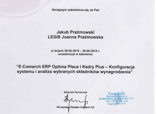 Certyfikaty Commarch